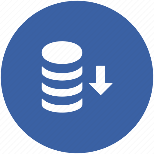 database, database downloading, downloading, server downloading, server rack icon