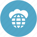 cloud computing, global, global cloud, internet, storage cloud icon