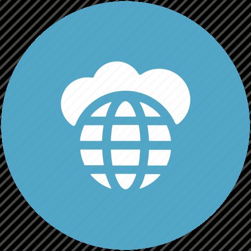cloud computing, global, global cloud, internet, storage cloud icon