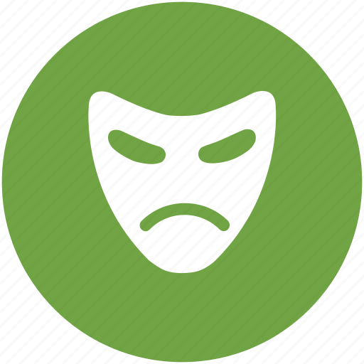 face mask, mask, sad mask, theater mask, tragicomedy icon