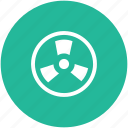 biohazard, caution, danger, nuclear, radiation, radioactive, toxic, warning icon