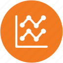 business analysis, chart, diagram, graph, infographics icon