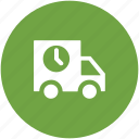 cargo, delivery truck, pickup truck, shipping, shipping van, transport icon