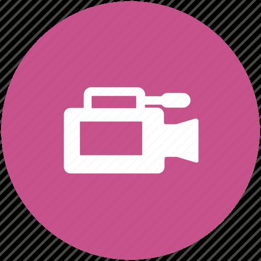 camera, film camera, filming, movie camera, video camera, video recording icon