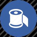 bath paper, bathroom, paper roll, tissue paper, tissue roll, toilet paper icon