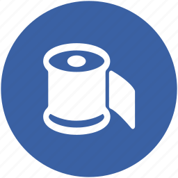 bath paper, bathroom, paper roll, tissue paper, tissue roll, toilet paper icon