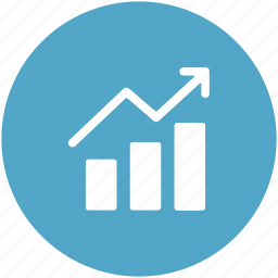 business graph, graph, growth chart, infographics, progress chart icon