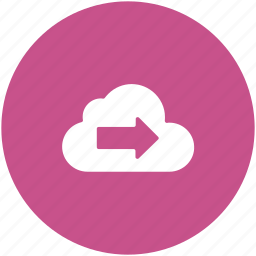 cloud computing, data storage, icloud, left arrow, storage cloud icon
