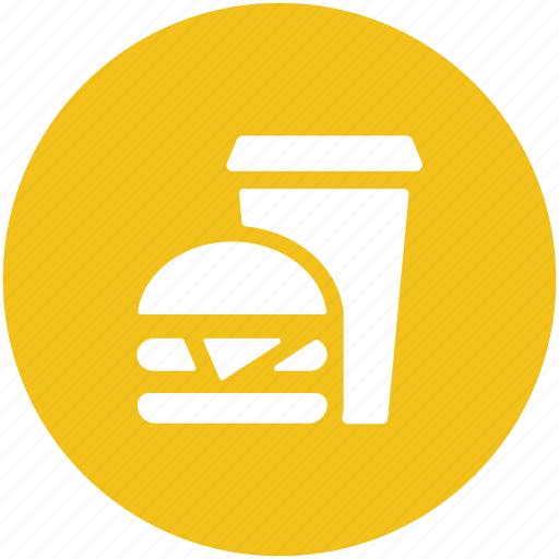 burger, drink soft drink, fast food, food, hamburger, junk food icon