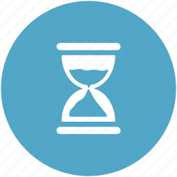 egg timer, hourglass, sand clock, sand timer, sand watch, sandglass icon