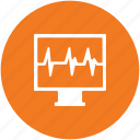 ecg, electrocardiogram, heartbeat, heartbeat screen, lifeline, pulsation, pulse rate icon