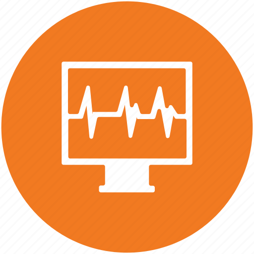 ecg, electrocardiogram, heartbeat, heartbeat screen, lifeline, pulsation, pulse rate icon