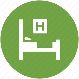 hospital, hospital bed, hospital furniture, patient bed, stretcher icon
