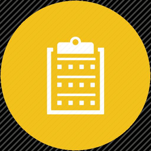 checklist, clipboard, list, medical report, prescriptions icon
