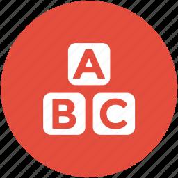 alphabetic blocks, alphabets, basic education, early education, english icon