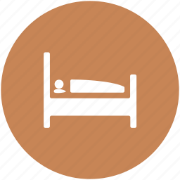 bed, bedroom, bedroom furniture, furniture, rest, single bed, sleeping icon