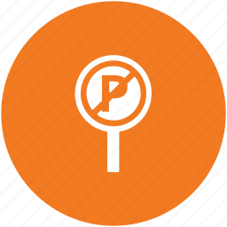 no parking, parking not allowed, parking sign, road sign, traffic sign icon