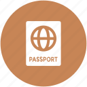 passport, tourism, travel, travel id, travel pass, travel permit, visa icon
