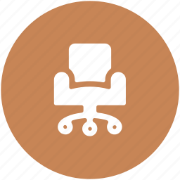 chair, office chair, office furniture, swivel, swivel chair icon