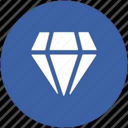 crystal stone, diamond, gem, jewel, precious stone icon
