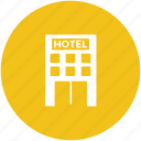 building, hotel, hotel building, inn, luxury hotel, real estate icon