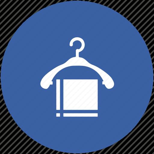 bathroom, clothe hanger, hanger, hanger towel, towel, wardrobe icon