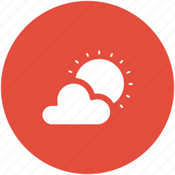 cloud, cloudy day, forecast, sun, sunny cloud, weather icon