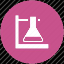 flask, flask holder, lab equipment, lab flask, volumetric flask icon