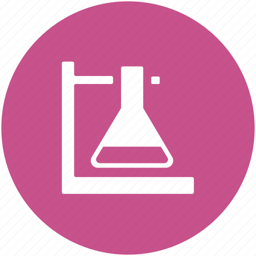 flask, flask holder, lab equipment, lab flask, volumetric flask icon