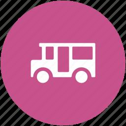 automobile, bus, public bus, transport, travel icon