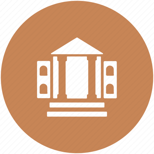 bank, building, college, court, real estate, school icon