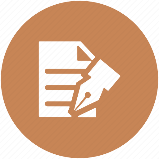 document, note, office doc, paper, pen, sheet, writing icon