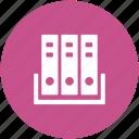 archives, binders, documents, file folders, files rack, office files