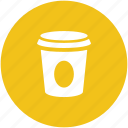 coffee cup, cold coffee, disposable cup, paper cup, takeaway coffee icon