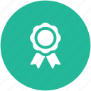 award, prize, reward, ribbon award, ribbon badge icon