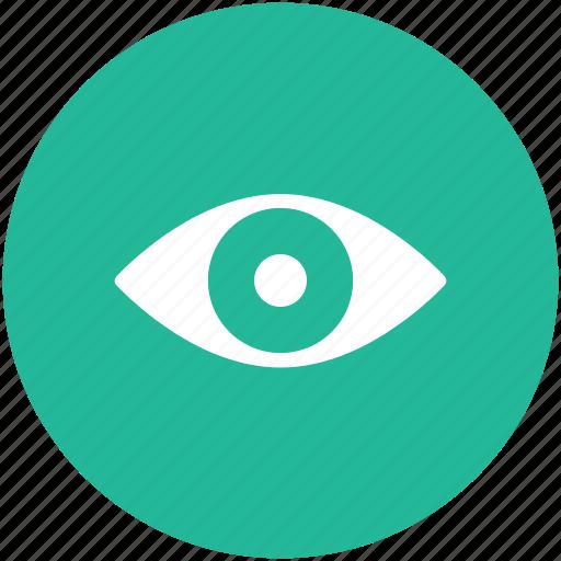 eye, eyesight, human eye, see, view icon