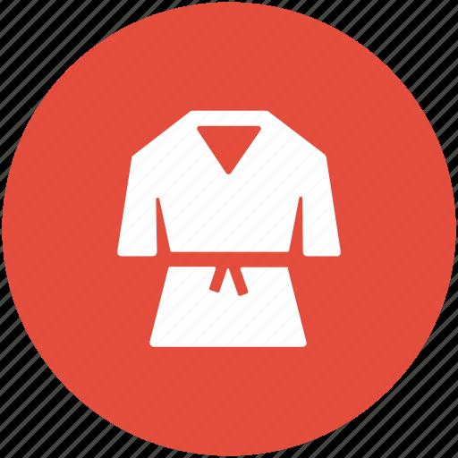 judo suit, karate clothing, karate costume, karate uniform, martial arts uniform icon