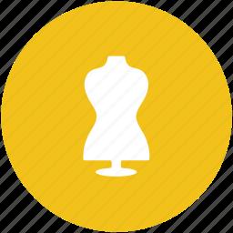 dress dummy, dress form, dummy, lay figure, manikin, mannequin icon