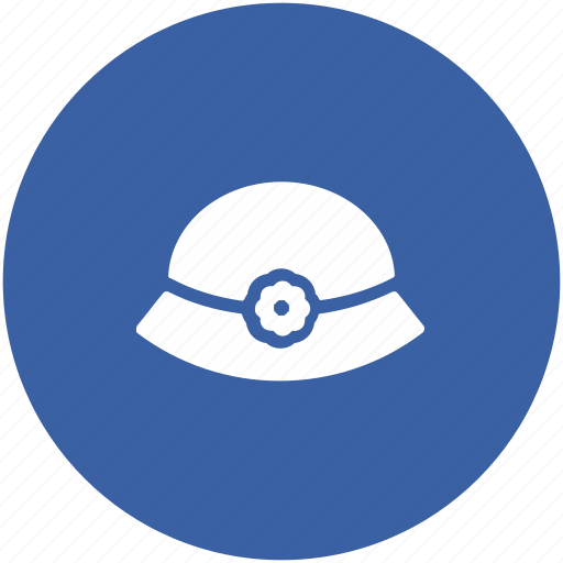 beach hat, cowboy hat, fedora hat, floppy hat, summer hat icon