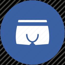 briefs, shorts, undergarments, underpants, underwear icon