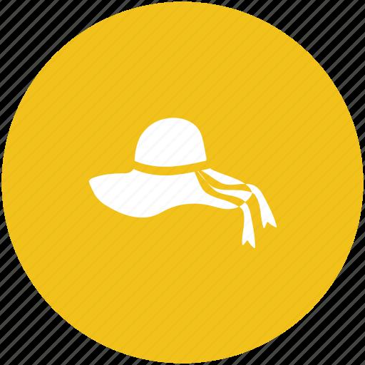 beach hat, cowboy hat, fedora hat, floppy hat, summer hat icon