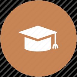 commencement, degree cap, graduate cap, graduation, mortarboard, tassel cap icon