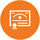 certificate, contract, deed, degree, diploma, document
