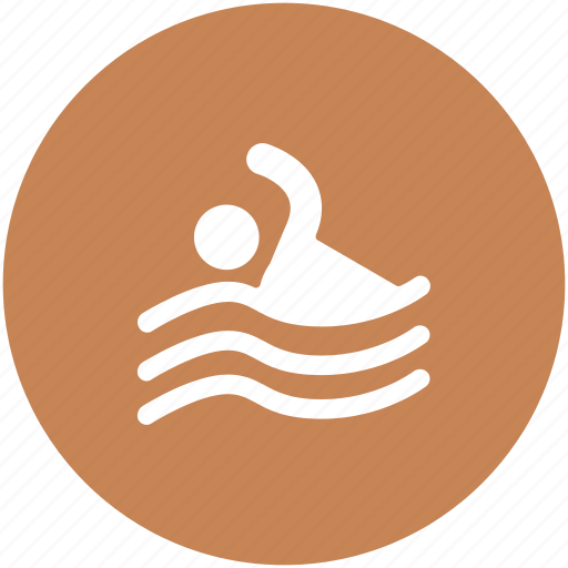 pool, swimmer, swimming, swimming competition, water sports icon