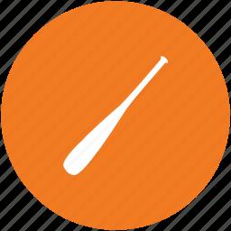ball, baseball bat, baseball equipment, baseball gear, sports, sports accessories icon