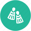 diving, diving fins, scuba fins, swimming, swimming fins, swimming flippers icon
