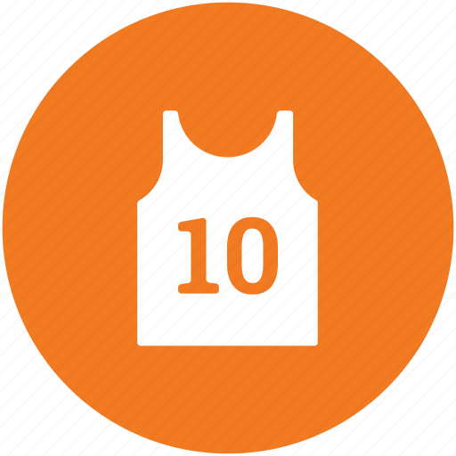 numbered vest, player clothing, player vest, sports vest, sportswear, team uniform icon