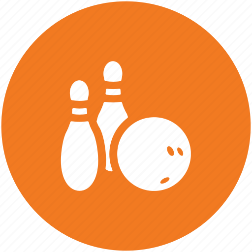 bowling accessories, bowling ball, bowling game, bowling pins, sporting equipment, sports, sports accessories icon