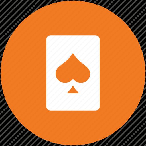 card game, casino card, playing card, poker card, spade card icon