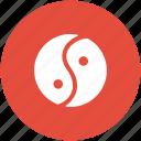 chinese philosophy, chinese symbol, duality, harmony, taijitu, taoism, yinyang icon